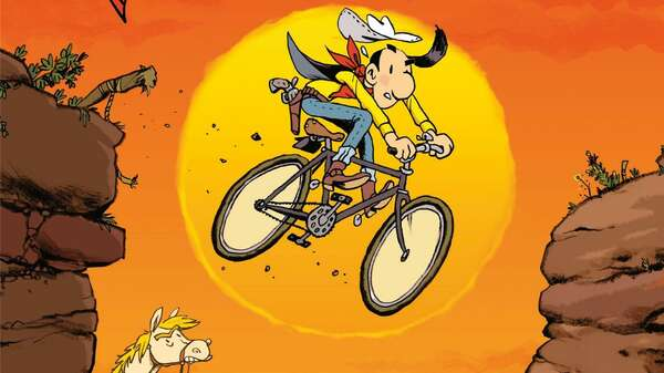 Lucky Luke sattelt um: So sieht das vorläufige Cover der regulären Albenausgabe aus. Foto: © Lucky Comics: Lucky Luke and all related marks and characters are trademarks and copyrights of Lucky Comics. Licensed by Lucky Comics. All Rights Reserved – by Mawil