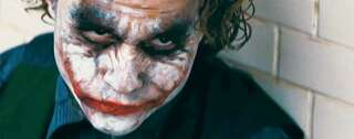 "Agent der Anarchie. Heath Ledger als Joker in ""The Dark Knight"". Sein Lächeln entstammt einer Narbe. Foto: imago/ZUMA Press"