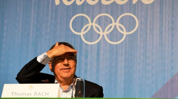 Olympia in Sichtweite. IOC-Präsident Thoams Bach. Foto: AFP/Schmidt
