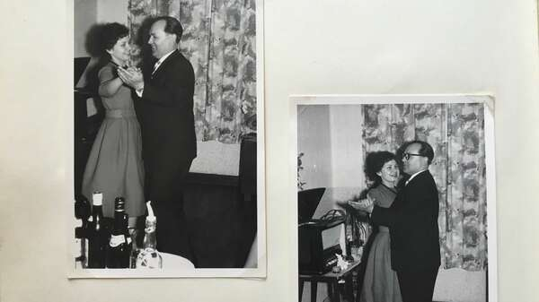 Waltraud kept her memories in diaries. For example how her father taught her how to dance the walz. Foto: privat